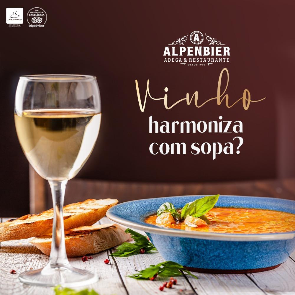 Harmonizando sopa e vinho